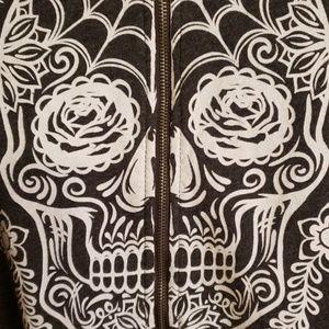 Sugar skull front zip sweatshirt Torrid size 0